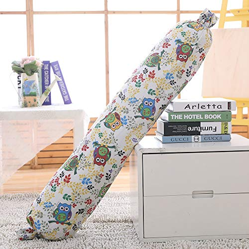 Linen Bolster Roll Pillow Candy Pillow Cylinder Long Lumbar Pillow Pregnancy Pillows Neck Pillow Back Support for Home Bed Sofa Cushion Decorative (Color : Pattern E, Size : 150cm/60inch) (60 Bolster Inch Pillow)