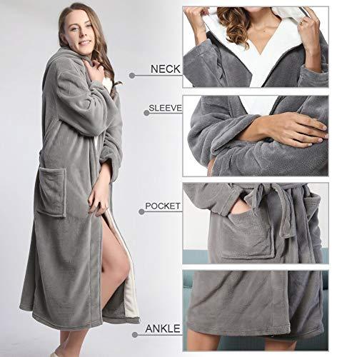 Cálido Y Largo L Sleepwear Mujeres Home Camisón Suave Para Cómodo Albornoz ZqqzHw6