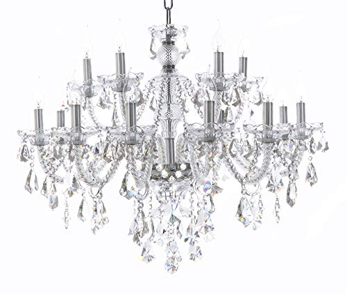 Island Lights Crystals Chandelier 15 Lights Ceiling Fixtures Color Clear ()