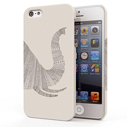 Koveru Back Cover Case for Apple iPhone 5S - White Elephant