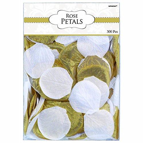 amscan Fabric Confetti Petals - Gold/White