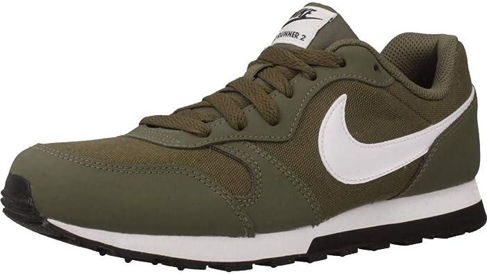 Política Más asesino  Nike MD Runner 2 (GS), Zapatillas de Gimnasia Unisex Niños, Verde (Medium  Olive/White/Black 201), 37.5 EU: Amazon.es: Zapatos y complementos