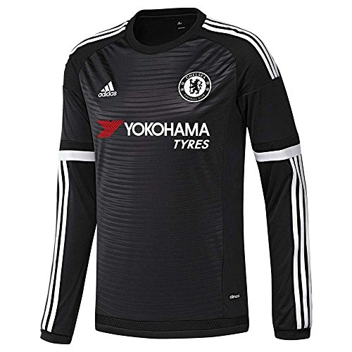 3d490601 Adidas Chelsea FC 3rd Long Sleeve Jersey-BLACK (S)