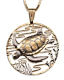 Sea Turtle Pendant & Necklace By the Difference World Coin Jewelry