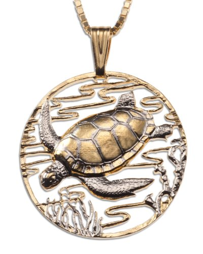 - Sea Turtle Pendant & Necklace By the Difference World Coin Jewelry