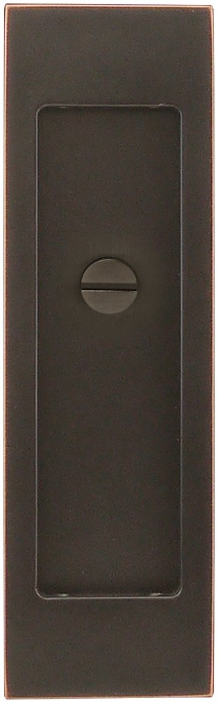 INOX FH2704-10B PD Series Pocket Linear Flush Pull with Thumb Turn Release, Oil Rubbed Bronze