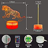 HLLKYYLF Baby Tiger Gifts Tiger Light 16 Color