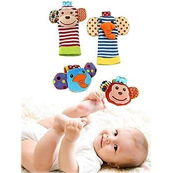 Amazon Com Happy Monkey Baby Wrist Rattles For Babies And