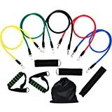 Compra Resistance Bands, Vitalismo Exercise Bands Rubber Fitness Workout Bands with Door Anchor Ankle Strap Carrying Case for Home Gyms Physical Therapy (5 Colors) en Usame