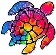 GT Graphics Tie Dye Sea Turtle - Vinyl Sticker Waterproof Decal