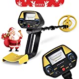 INTEY Metal Detector - Pinpoint Function Updated Version Treasure Hunter Adjustable Waterproof Search (30In-40In), Rucksack, Outdoor for Beginner for Christmas