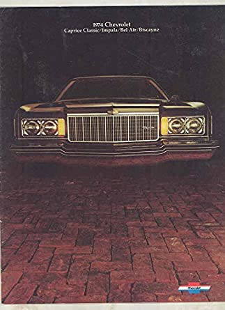 1974 Chevrolet Caprice Classic Impala Bel Air Biscayne Brochure Canada