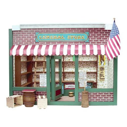 Dollhouse Miniature General Store Dollhouse by RGT (Real Good Toys)