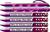 """Best  - Greeting Pen """"Butterfly"""" Friend Appreciation Pens with Rotating Review"""