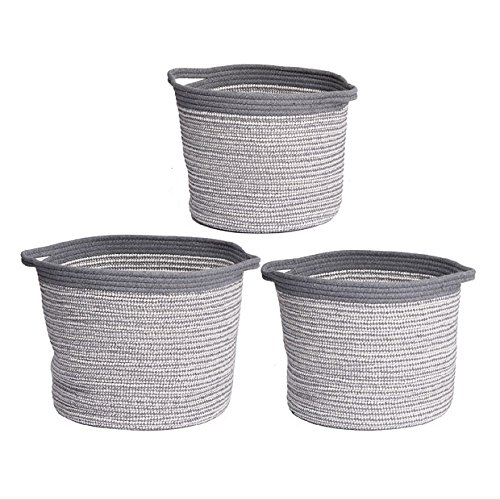 Lorne Storage Baskets Gray & White Set Of 3 by A&B Home Group