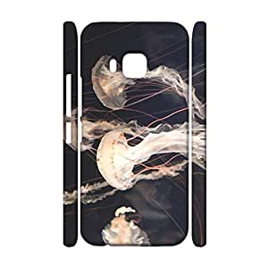 Unique Newest 3D Protective Shell Jellyfish Printed Phone Case for HTC one M9