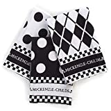 MacKenzie-Childs Black and White Dot Dish Towels - Set of 3
