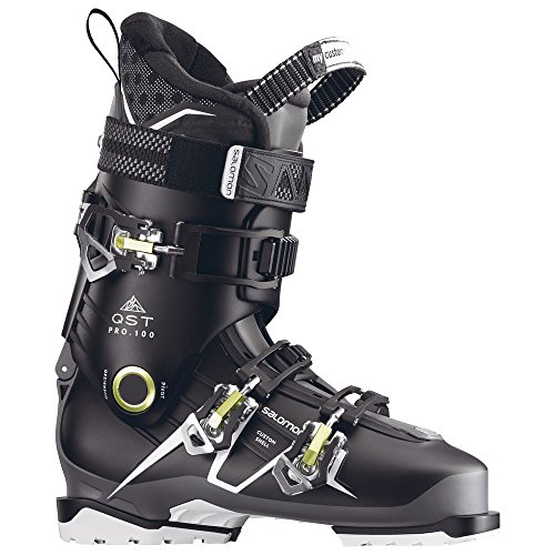 - Salomon QST Pro 100 Ski Boots 2018 - 29.5/Black-Anthracite-Acide Green