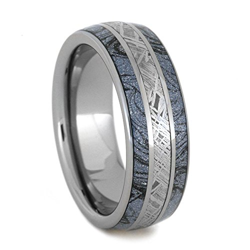 Cobaltium Mokume, Gibeon Meteorite 8mm Comfort-Fit Tungsten Ring, Size 8.25 by The Men's Jewelry Store (Unisex Jewelry)