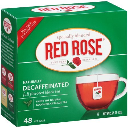 (Red Rose Decaffeinated Tea, 48 Count (Pack of 4))
