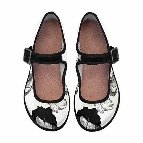 InterestPrint Womens Comfort Mary Jane Flats Casual Walking Shoes Multi 4 oEpuwR84