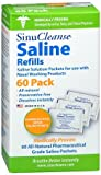 SinuCleanse Saline Refills 60 Packets 60 Each (Pack of 2)