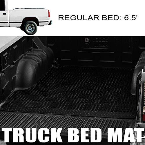 3500 Fleetside 6.5 Ft Short Truck Bed Rubber Diamond Floor Mat Carpet HS Power Black Finished 88-00 Chevy C10 C//K 1500//2500