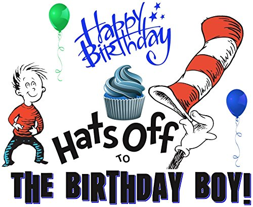 Dr. Seuss - Boy Birthday - For Light-Colored Materials - Iron On Heat Transfer 7