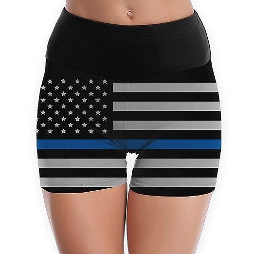 Amazon.com: LDGT@DU Womens Yoga Shorts Police Lives Matter ...