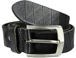 Heepliday Men's Cool Leather HJHX-052 Belt X-Large 36-38 Black