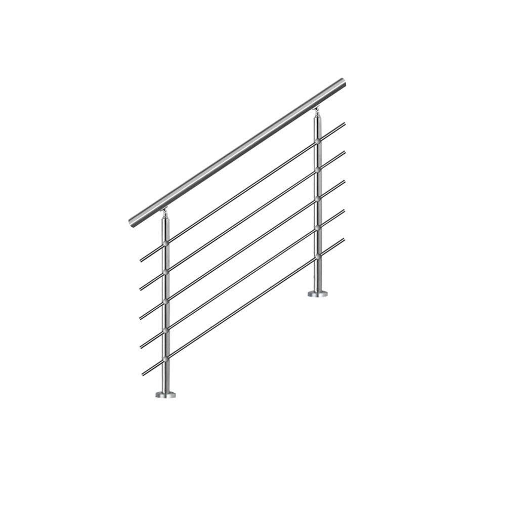 HENGMEI 120cm Treppengel/änder Edelstahl-Handlauf Gel/änder Gel/änderst/äben Terrassengel/änder Bausatz Treppen 120cm, 2 Querstreben