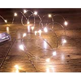 20 LED 2m Micro Silver Wire Indoor Battery Operated Firefly Fairy String Lights Perfect For Christmas, Crafts, Xmas Tree Or Wedding Decoration