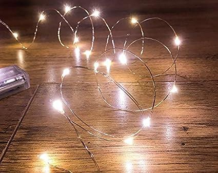 Led Lichterkette Mit 20 Led Lichter 2m Mikro Silberfarbenes