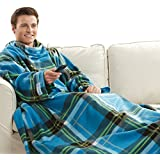 Snuggie Blanket - Blue Plaid