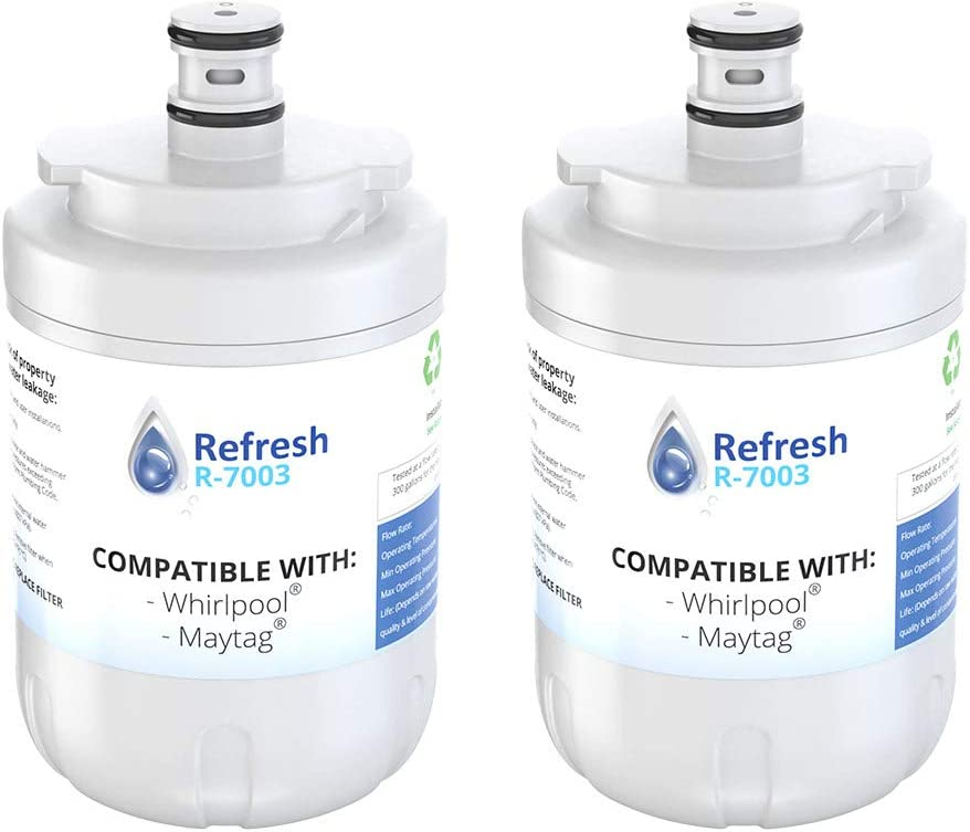 Refresh Replacement Refrigerator Water Filter for Whirlpool EDR7D1, Maytag UKF7002AXX, UKF7003AXX, WF-UKF7003, WF288 and EveryDrop Filter 7 (2 Pack)