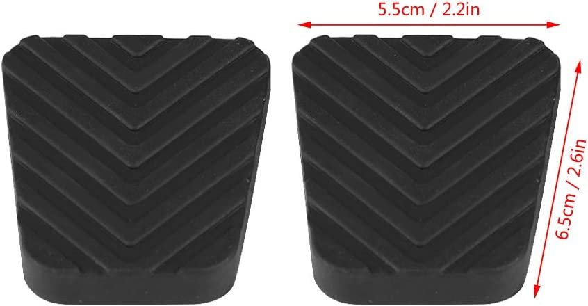 2Pcs Clutch Brake Pedal Rubber Cover for Accent Elantra Scoupe Tiburon Getz 3282524000