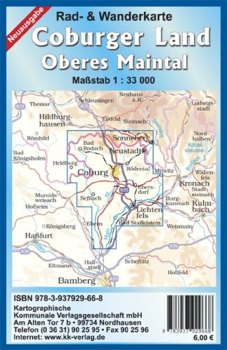 Coburger Land - Oberes Maintal: Rad- und Wanderkarte 1:33 000