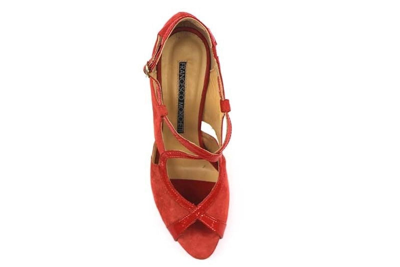 Zapatos Mujer Francesco MORICHETTI 40 Sandalias Rojo Charol Gamuza ap393 qGDlbFdFK