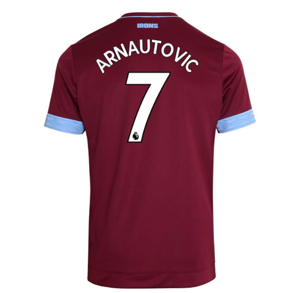 2018-2019 West Ham Home Football Soccer T-Shirt Trikot (Marko Arnautovic 7)