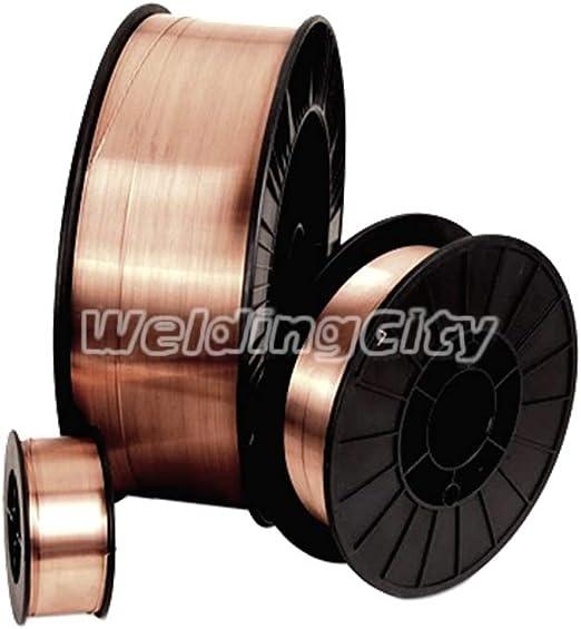"""WeldingCity 5-pk ER70S-6 .023/"""" 2-lb Roll Mild Steel MIG Welding WireUS Seller"""