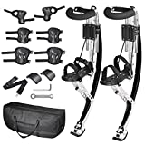 Globe House Products GHP 198-Lbs Capacity Aluminum Alloy Adjustable Height Adult Jumping Stilts with Bag