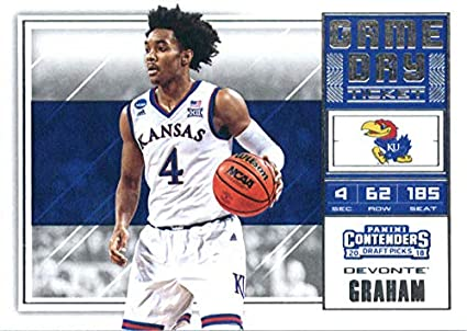 5868fe5ce5a8 2018-19 Panini Contenders Draft Picks Game Day Tickets  31 Devonte  Graham  Kansas