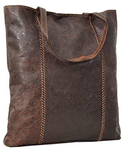 studio shopper Borsa pelle di università Leder ''Amelie'' 20 di 13 Gusti 2M63 città elegante spalla a robusto unisex passeggio borsa marrone lavoro rWX08rqdO