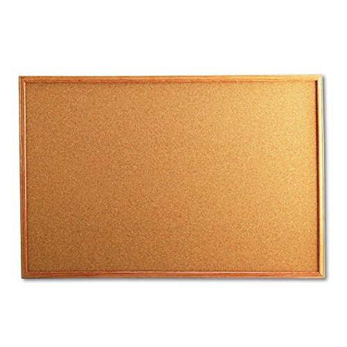 (Universal 43603 Cork Board with Oak Style Frame, 36 x 24, Natural, Oak-Finished Frame)