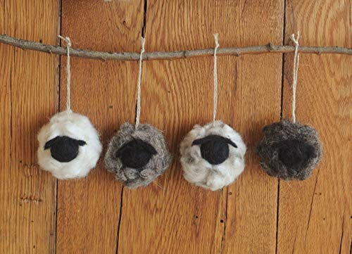 Felted Wool Sheep Ornament Small