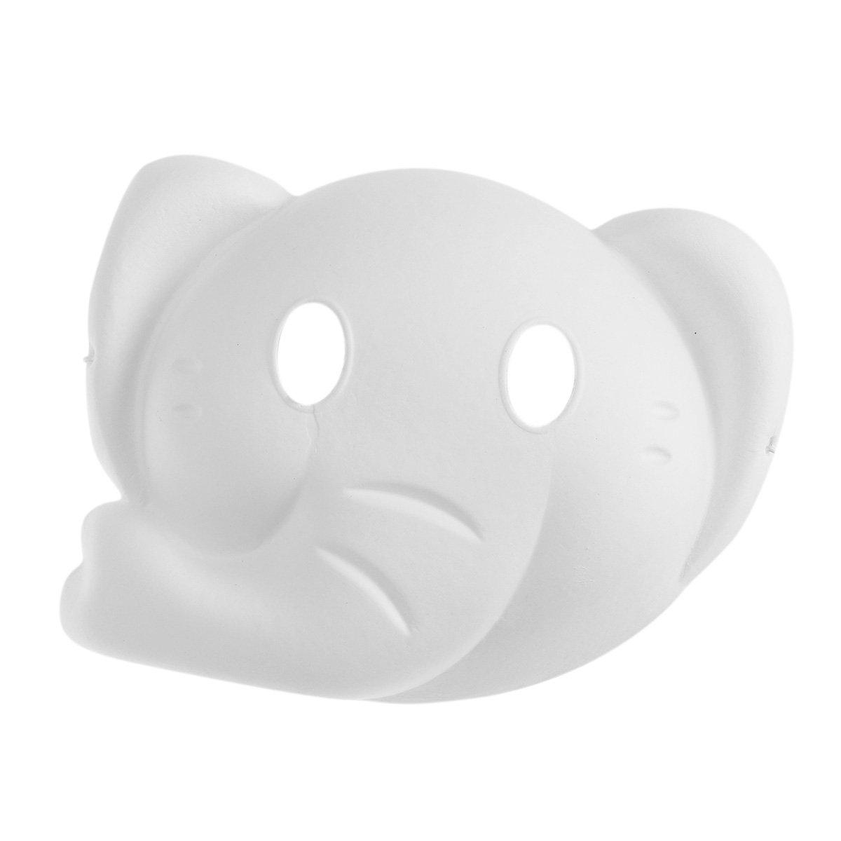 LUOEM Máscara de Elefante Pintura Máscara de Cara Completa Traje de Pulpa en Blanco Máscara Blanca para la Pintura DIY Disfraces de Halloween: Amazon.es: ...