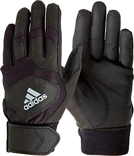adidas Youth Triple Stripe Batting Gloves 2018 (Black, ()