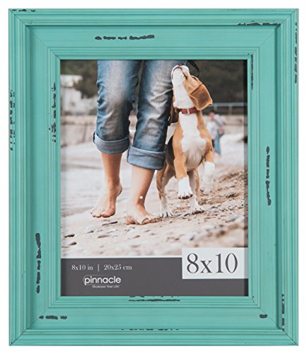 (Pinnacle Frames and Accents 8X10 Distressed Teal Frame, Blue)