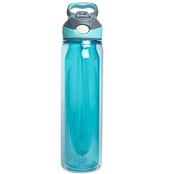 KLWJ Deportes botellas,Botella de agua transparente,Tetera plástico de 500ml, Camping las