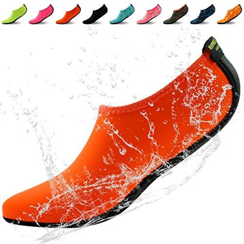Maison Chausson Pieds Nus Eau Peau Chaussures Aqua Néoprène Chaussettes Pour Plage Piscine Nager Surf Yoga Plongée En Apnée Orange